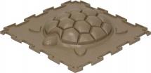 Массажный коврик Орто Черепашка жесткий 25x25 см, бежевый