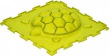 """Массажный коврик Орто """"Черепашка"""" жесткий 25x25 см, желтый"""