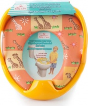 Сиденье для унитаза Baby Care Африка c ручками, желтый