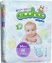 Подгузники Ecoboo M (4-9 кг) 66 шт