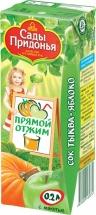 Сок Сады Придонья Яблоко-Тыква с мякотью прямого отжима с 5 мес 200 мл