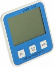Термометр электронный с гигрометром (DC107), синий