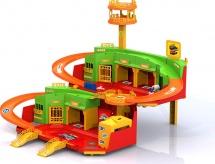 Парковка Нордпласт Hot Wheels с вертолетной площадкой