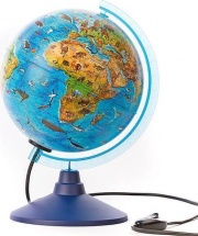 Глобус Globen Ве012100249 Зоогеографический с подсветкой