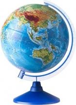 "Глобус Земли ""Физический"", с подсветкой на батарейках, d 250 мм, серия Евро, Globen"