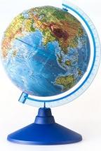 """Глобус Земли """"Физический"""", рельефный с подсветкой на батарейках, d 250 мм, серия Евро, Globen"""
