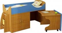 Набор детской мебели Гармония Карлсон Микро 202, бук/синий