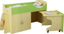 Набор детской мебели Гармония Карлсон Микро 202, вяз/салатовый