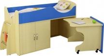 Набор детской мебели Гармония Карлсон Микро 202, вяз/синий