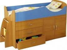 Набор детской мебели Гармония Карлсон Микро 201, бук/синий