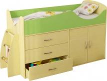 Набор детской мебели Гармония Карлсон Микро 201, вяз/салатовый