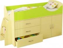 Набор детской мебели Гармония Карлсон Микро 201, вяз/лайм
