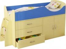 Набор детской мебели Гармония Карлсон Микро 201, вяз/синий