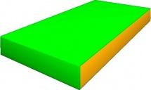 Мат Romana pro 100х50х10 см, зеленый/желтый
