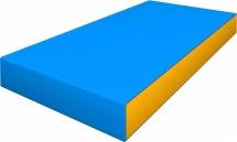 Мат Romana pro 100х50х10 см, голубой/желтый