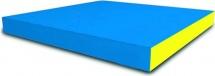 Мат Romana pro 100х100х10 см, голубой/желтый