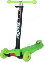 Самокат Kids Scooter 4-х колёсный, зеленый
