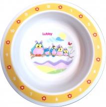 Тарелка Lubby Веселые животные Совы 400 мл