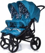 Коляска Baby Care для двойни Cruze DUO Синий 17 (Blue 17)