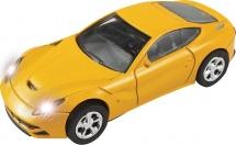 Машинка AutoTime Germany Sport Coupe со светом фар 1:43 желтый