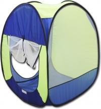 Палатка Belon Радужный домик квадрат 4 грани, синий/василек/лимон/голубой