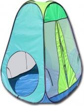 Палатка Belon Радужный домик конус 4 грани, яркий голубой/салатовый/лимон/бирюза