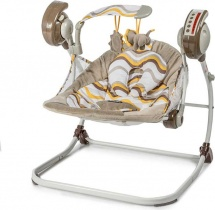 Электрокачели Baby Care Flotter с адаптером, желтый (Yellow)