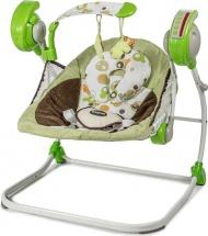 Электрокачели Baby Care Flotter с адаптером, зеленый (Green)