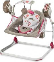 Электрокачели Baby Care Flotter с адаптером, Розовый (Pink)