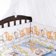 Бортик Baby Care в кроватку Бельчата голубой