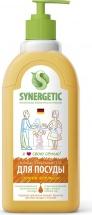 Средство Synergetic для мытья посуды и фруктов, сочный апельсин 500 мл
