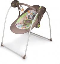Электрокачели Baby Care OnDa с адаптером, Коричневый (Brown)
