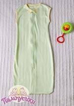 Спальный мешок Пампусики Матрешка 2-12 мес зеленый