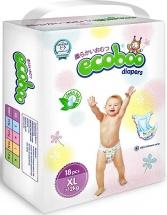 Подгузники Ecoboo XL (12+ кг) 18 шт