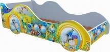 Кровать-машинка Кроватка 5 Субмарина Желтая