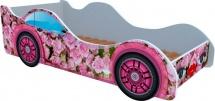 Кровать-машинка Кроватка 5 Розовые розы