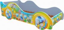 Кровать-машинка Кроватка 5 Субмарина рыбки