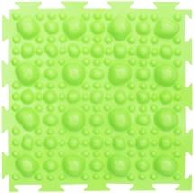 Массажный коврик Орто Камни жесткий 25x25 см, салатовый