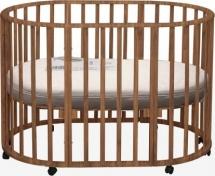 Кроватка Лаура 3 в 1 колеса овальная, итальянский орех