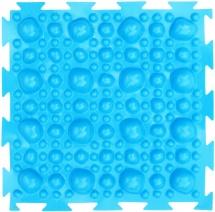 Массажный коврик Орто Камни жесткий 25x25 см, голубой