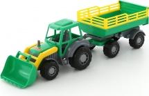 Трактор Полесье Мастер с прицепом и ковшом №2 зеленый