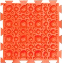Массажный коврик Орто Камни жесткий 25x25 см, оранжевый