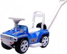 Машина-каталка Орион Ориончик с ручкой, синий