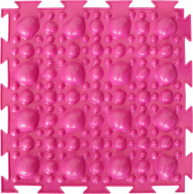 Массажный коврик Орто Камни жесткий 25x25 см, розовый