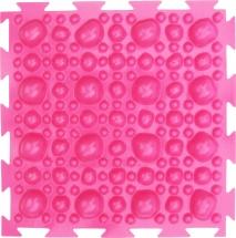 """Массажный коврик Орто """"Камни"""" жесткий 25x25 см, розовый"""