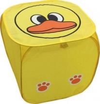 Корзина для игрушек Утенок квадратная 43х43х43