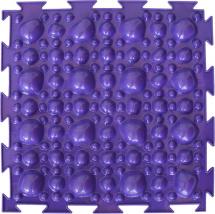 Массажный коврик Орто Камни мягкий 25x25 см, фиолетовый
