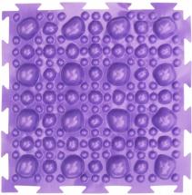 """Массажный коврик Орто """"Камни"""" мягкий 25x25 см, фиолетовый"""