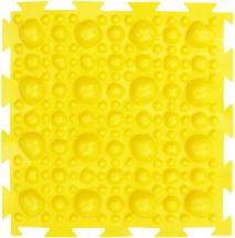 Массажный коврик Орто Камни мягкий 25x25 см, желтый