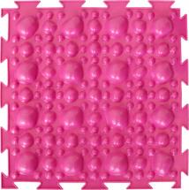 Массажный коврик Орто Камни мягкий 25x25 см, розовый